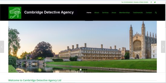 [Thumbnail image: Cambridge Detective Agency: Database Driven Site]